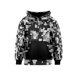 Background Noise In Black & White Kid s Pullover Hoodie