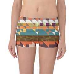 Shapes In Retro Colors Boyleg Bikini Bottoms