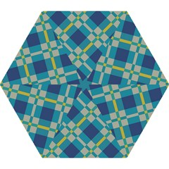 Squares and stripes pattern Umbrella