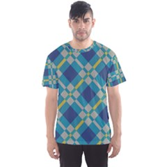 Squares And Stripes Pattern Men s Sport Mesh Tee