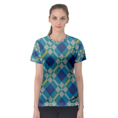 Squares and stripes pattern Women s Sport Mesh Tee