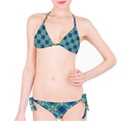 Squares and stripes pattern Bikini set