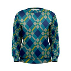Squares and stripes pattern Sweatshirt