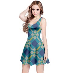 Squares and stripes pattern Sleeveless Dress