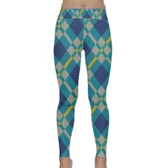 Squares and stripes pattern Yoga Leggings
