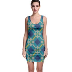 Squares and stripes pattern Bodycon Dress