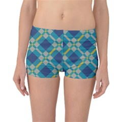 Squares And Stripes Pattern Boyleg Bikini Bottoms
