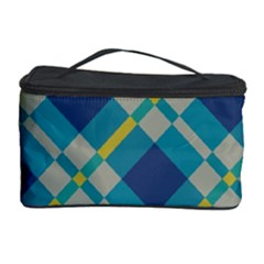 Squares and stripes pattern Cosmetic Storage Case