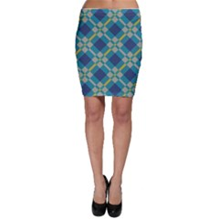 Squares and stripes pattern Bodycon Skirt