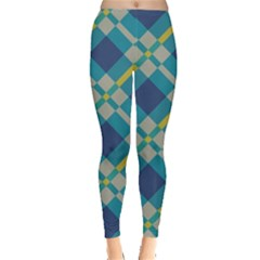 Squares and stripes pattern Leggings