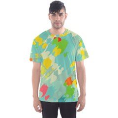 Smudged shapes Men s Sport Mesh Tee