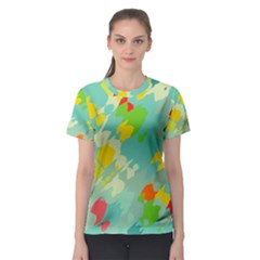 Smudged Shapes Women s Sport Mesh Tee