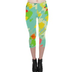 Smudged Shapes Capri Leggings