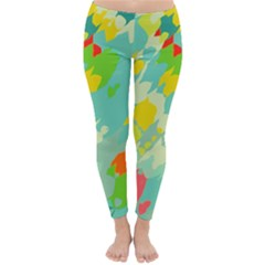 Smudged shapes Winter Leggings