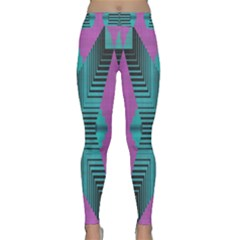 Tribal Purple Rhombus Yoga Leggings