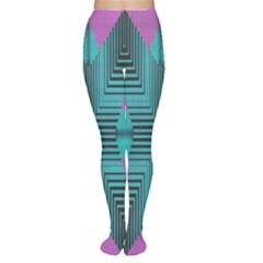 Tribal purple rhombus Tights
