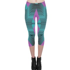 Tribal Purple Rhombus Capri Leggings