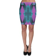 Tribal purple rhombus Bodycon Skirt