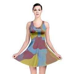 Watercolors Reversible Skater Dress