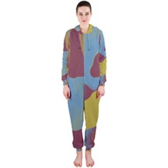 Watercolors Hooded OnePiece Jumpsuit