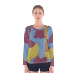 Watercolors Women Long Sleeve T Shirt