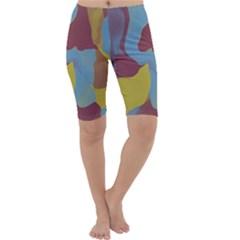 Watercolors Cropped Leggings
