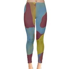 Watercolors Winter Leggings