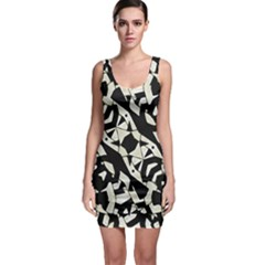 Black and White Print Bodycon Dress
