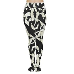Black And White Print Tights