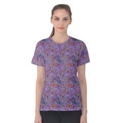 Purple Paisley Women s Cotton Tee