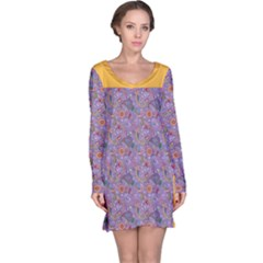 Purple Paisley Long Sleeve Nightdress