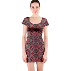 Luxury Ornate Short Sleeve Bodycon Dress