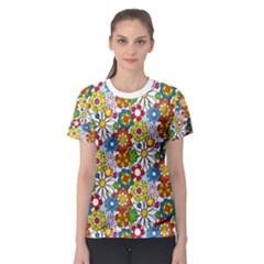 Flower Shirt Women s Sport Mesh Tee