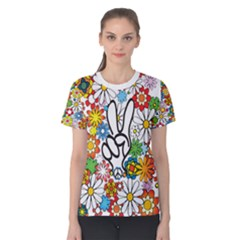 Peace All Over, Baby! Women s Cotton Tee