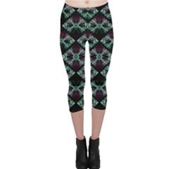 Elegant Pattern Print Capri Leggings