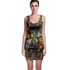 Floral Collage Print Bodycon Dress