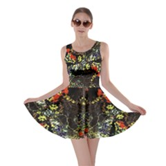 Floral Collage Print Skater Dress