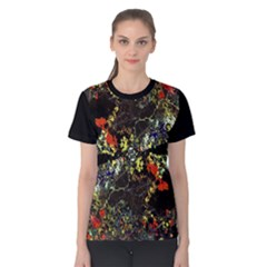 Floral Collage Print Women s Cotton Tee
