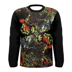 Floral Collage Print Men s Long Sleeve T Shirt