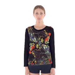 Floral Collage Print Women s Long Sleeve T-shirt