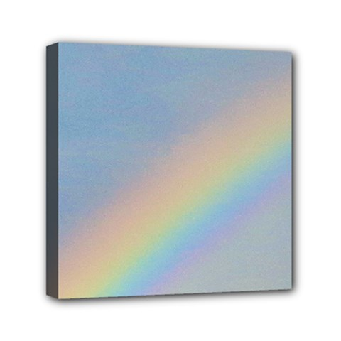 Rainbow Mini Canvas 6  x 6  (Framed)
