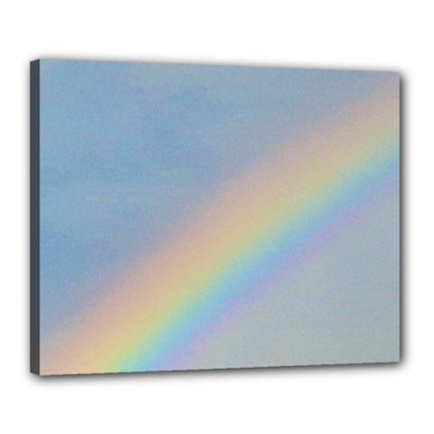 Rainbow Canvas 20  x 16  (Framed)