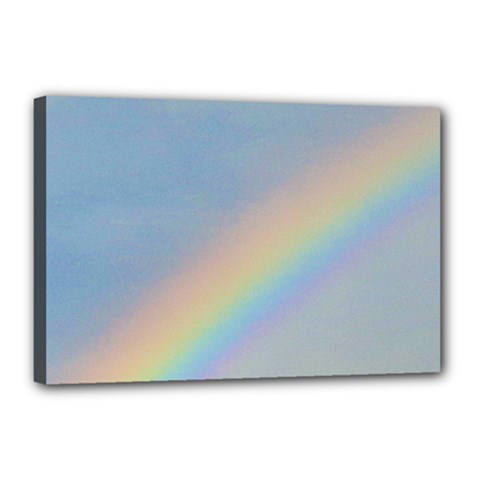 Rainbow Canvas 18  x 12  (Framed)
