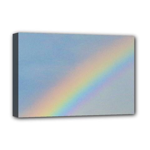 Rainbow Deluxe Canvas 18  X 12  (framed)