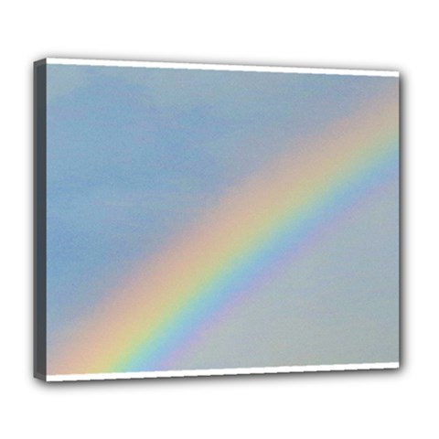 Rainbow Deluxe Canvas 24  x 20  (Framed)