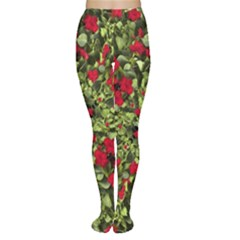 Floral Collage Print Tights