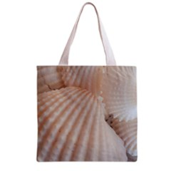 Sunny White Seashells Grocery Tote Bag
