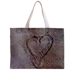 Heart In The Sand Tiny Tote Bag