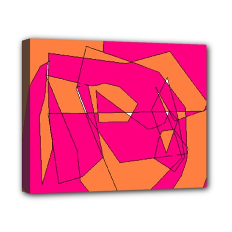 Red Orange 5000 Canvas 10  X 8  (framed)