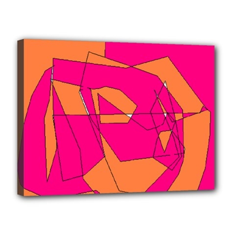 Red Orange 5000 Canvas 16  X 12  (framed)